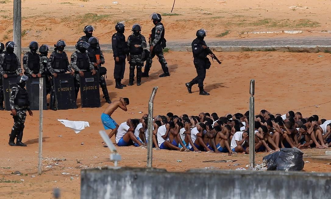 A matança foi uma vingança de uma facção de São Paulo pela morte de seus integrantes em presídio de Manaus Foto: NACHO DOCE / REUTERS
