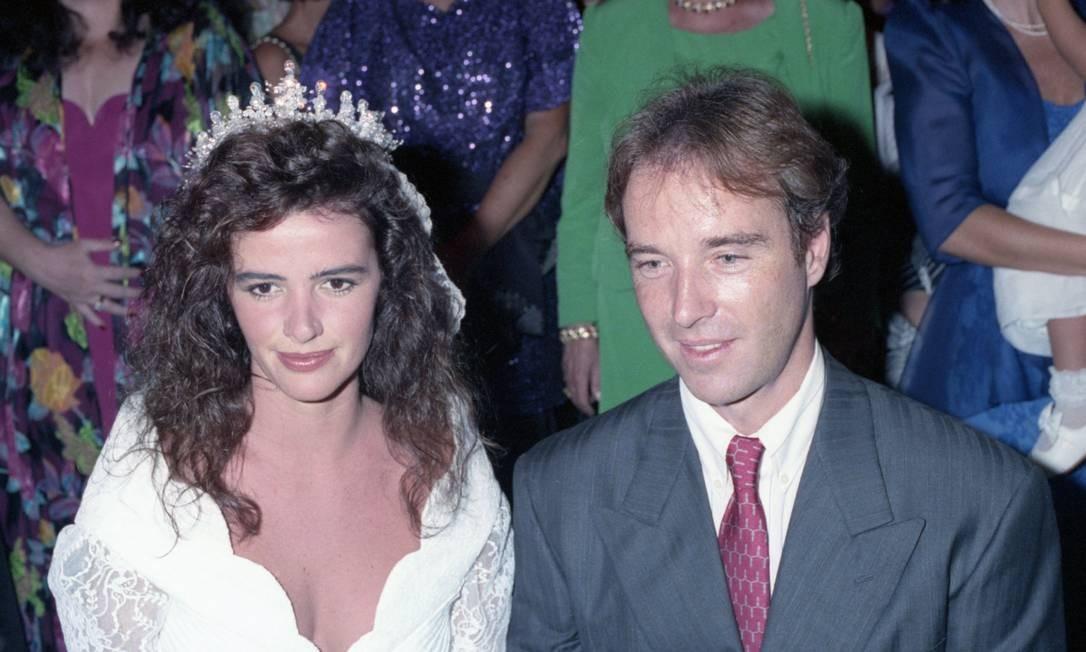 Em Janeiro de 1991 casou- se com Luma de Oliveira, com quem tem dois filhos e de quem se separaria Foto: Leonardo Aversa / Agência O Globo