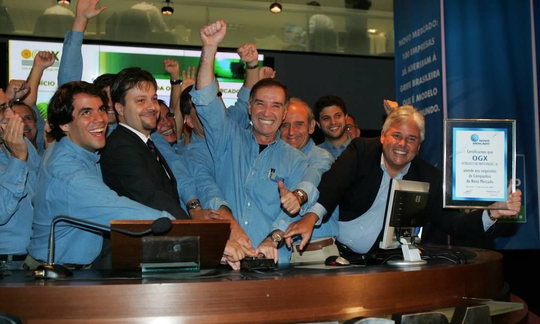 Em 2008 a petrolifera OGX do empresário Eike Batista estréia na Bovespa Foto: Luiz Carlos Murauskas / Folha Imagem