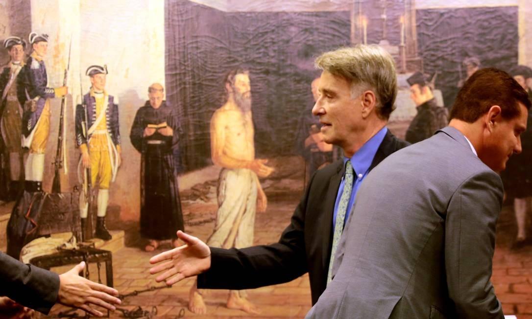 Em 2015, Eike Batista depõe na Comissão da CCJ da Câmara em Brasilia Foto: Aílton de Freitas / Agência OGlobo