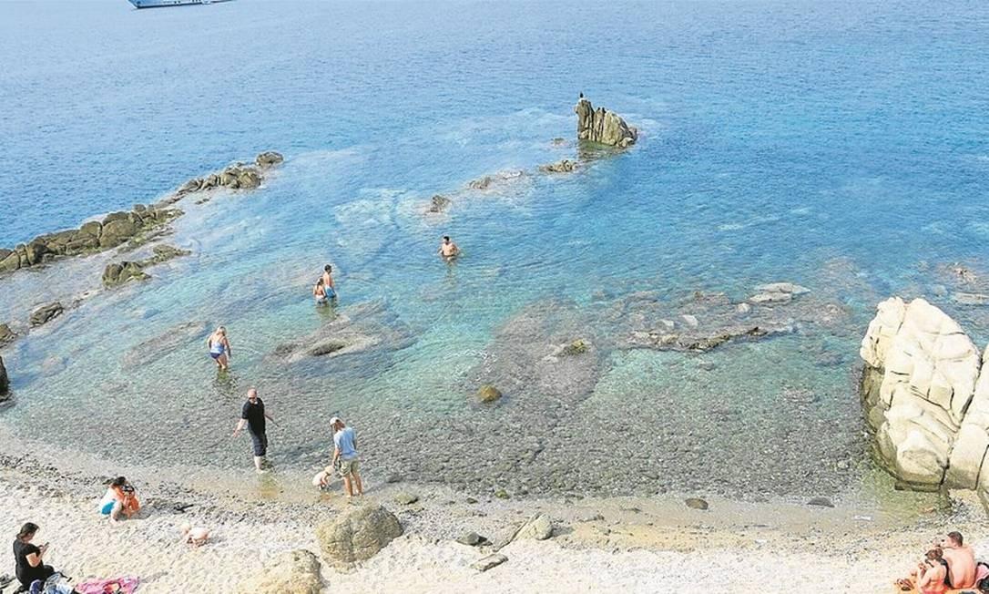 Belas praias em Mykonos, na Grécia Foto: Lucas Altino