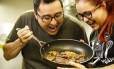 Celso Fortes e Michelle Rodriguez, chefs do açougue vegano do Rio