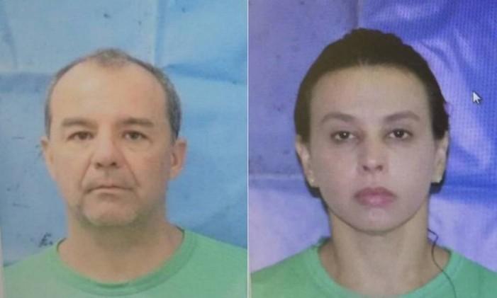 Cabral e Adriana Ancelmo em foto na prisão Foto: Reprodução
