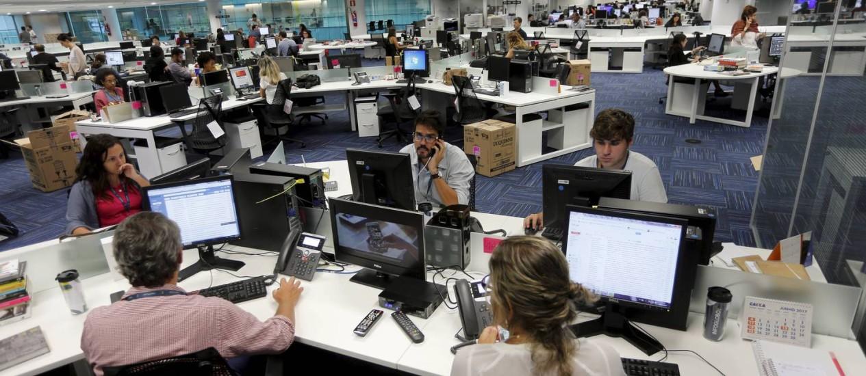 Nova era: redação integrada Foto: Agência O Globo