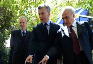 Sintonia. Encontro de Temer e Macri , em dezembro: em 2016, Brasil teve superávit de US$ 4,3 bilhões com a Argentina Foto: Divulgação / Divulgação