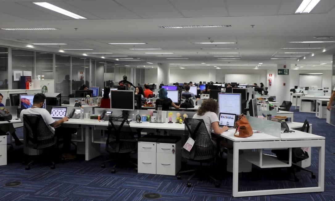 A redação unificada na nova sede da Infoglobo Foto: Agência O Globo