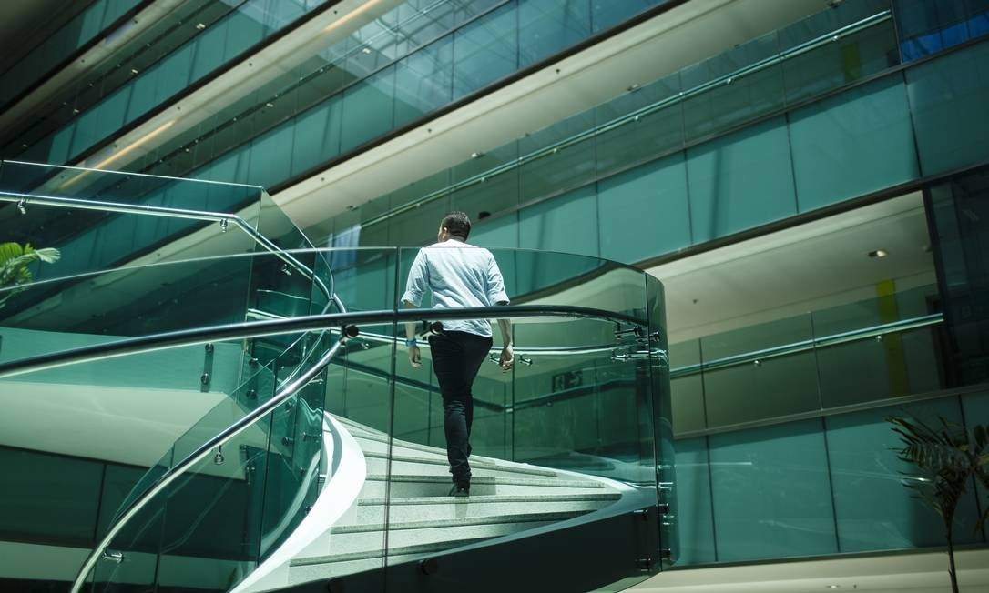 Vista da área interna da nova sede da Infoglobo Foto: Fernando Lemos / Agência O Globo