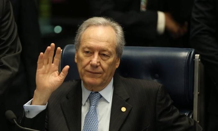 Ricardo Lewandowski durante a sessão de julgamento do impeachment Foto: André Coelho / Agência O Globo