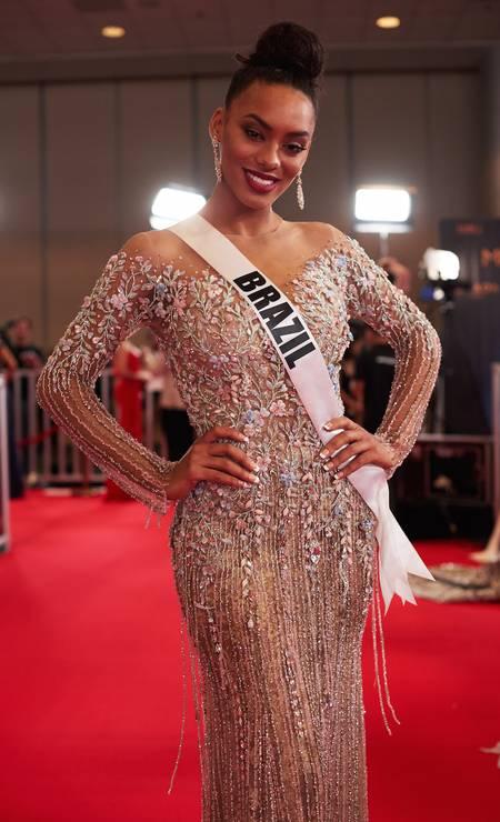 A brasileira Raissa Santana ficou entre as 13 finalistas, mas não passou para o top 9 Foto: Benjamin Askinas / Miss Universe Organization
