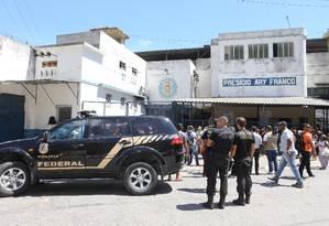 Presídio Ary Franco, em Agua Santa, onde o empresário Eike Batista está preso Foto: Guilherme Pinto / Agência O Globo