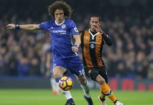 David em ação pelo Chelsea: centésimo na liga Foto: DANIEL LEAL-OLIVAS/AFP/22-1-2017