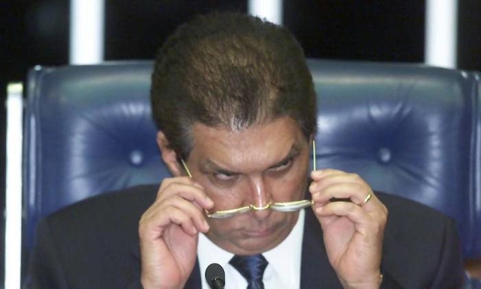 O senador Jader Barbalho presidindo pela ultima vez a sessão do Senado Foto: Ailton de Freitas