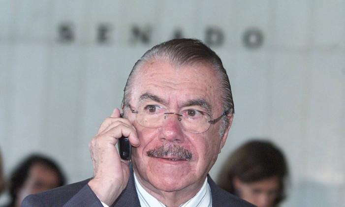 O senador José Sarney no congresso Foto: Roberto Stuckert Filho