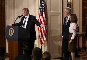 Trump apresenta Neil Gorsuch como sua escolha na Suprema Corte Foto: CARLOS BARRIA / REUTERS