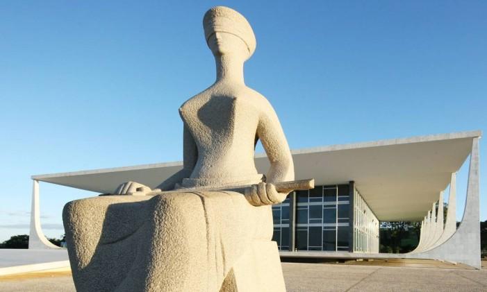 Estátua da Justiça em frente ao STF Foto: Divulgação/STF