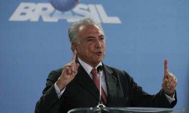 O presidente Michel Temer Foto: Edilsson Dantas / Agência O Globo