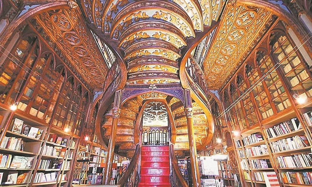 A Livraria Lello, na cidade do Porto, atrai filas de turistas Foto: Reprodução