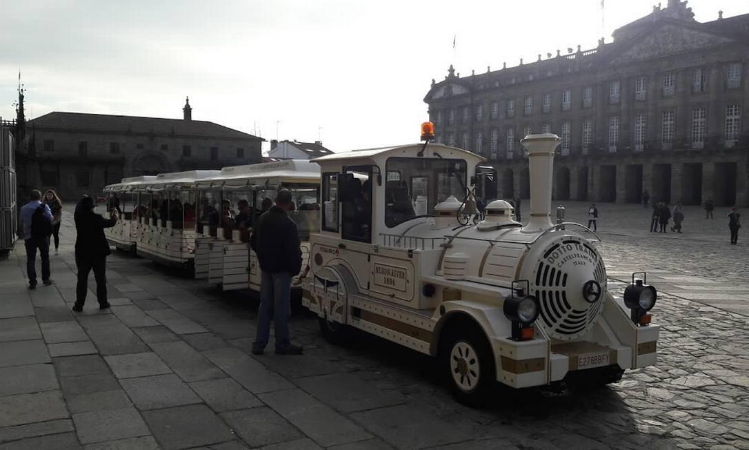 Composição de trem na praça de Santiago Foto: Rosiane Torres/Acervo Pessoal