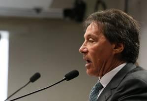 O senador Eunício Oliveira (PMDB-CE), eleito presidente do Senado Foto: Ailton de Freitas / Agência O Globo / 1-11-2016