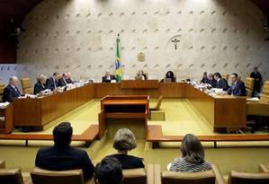 Sessão do Supremo Tribunal Federal nesta quarta-feira Foto: Foto: Nelson Jr./SCO/STF
