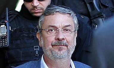 """O ex-ministro Antônio Palocci, preso em Curitiba, ganhou o apelido de """"Italiano"""" na Wikipedia, em referência a como é citado em planilhas da Odebrecht Foto: HEULER ANDREY / AFP"""