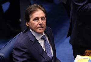 O senador Eunício Oliveira (PMDB-CE), eleito presidente do Senado Foto: Ailton de Freitas / Agência O Globo / 1-2-2017