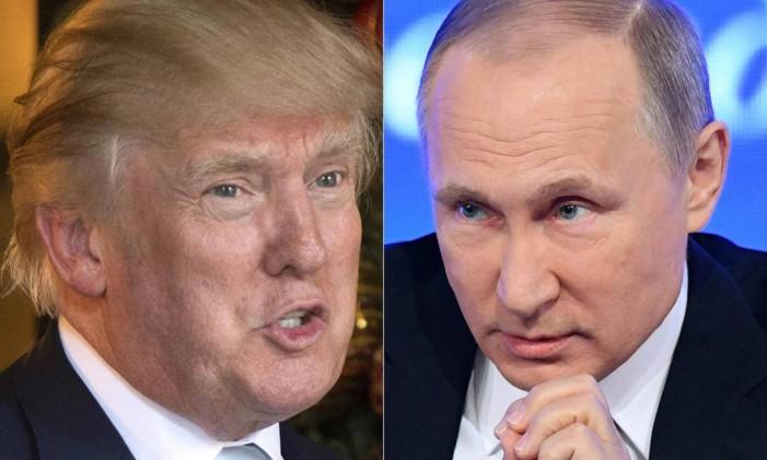 Os presidentes de EUA e Rússia: Donald Trump e Vladimir Putin Foto: AFP