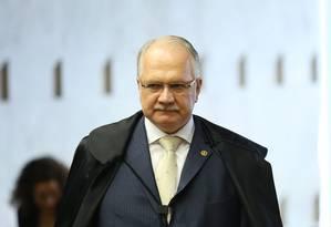 O ministro Luiz Edson Fachin, do Supremo Tribunal Federal, é o relator da Lava-Jato no STF Foto: André Coelho / Agência O Globo