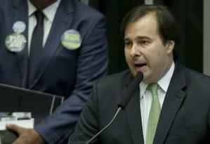 O presidente da Câmara, Rodrigo Maia (DEM-RJ) Foto: Jorge William / Agência O Globo / 2-2-2017