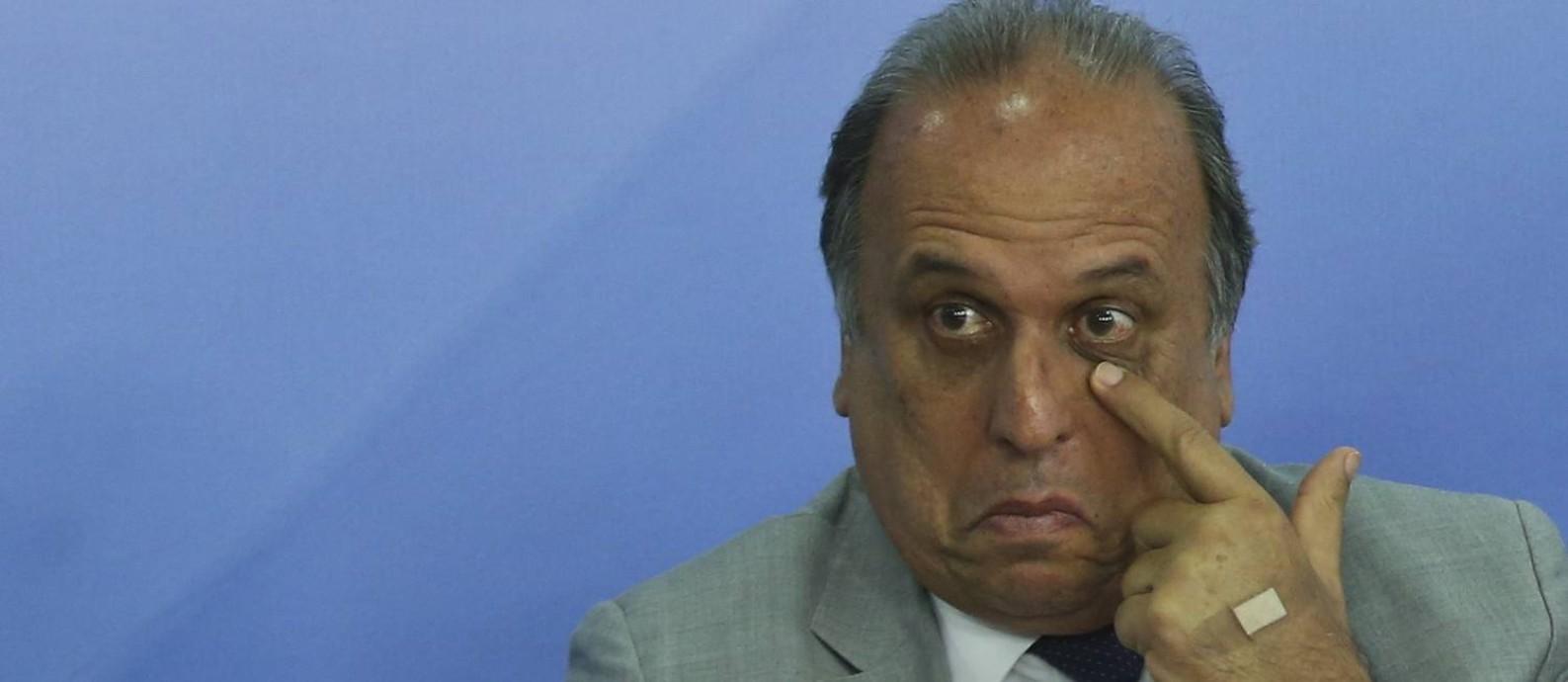 Governador Luiz Fernando Pezão esteve em Brasília para explicar o acordo federal Foto: Ailton Freitas - 26/01/2016 / Agência O Globo