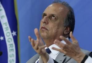 Governador Luiz Fernando Pezão esteve em Brasília para explicar o acordo federal (26/01/2016) Foto: Ailton Freitas / Agência O Globo