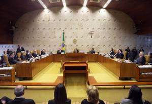 Plenário do STF Foto: Nelson Jr./SCO/STF