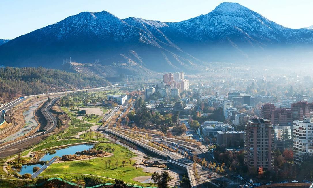 Cidades na América do Sul atraem pela distância mais curta e pelos preços mais em conta. Na capital do Chile, Santiago, é possível curtir um fim de semana por R$ 1.599 Foto: Divulgação