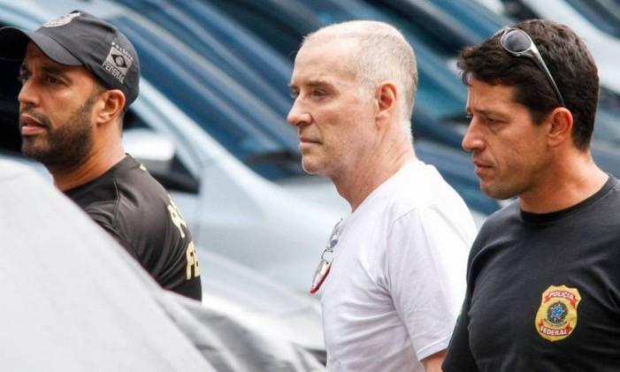 Eike Batista no dia em que prestou depoimento: preso desde segunda-feira em Bangu Foto: Agência O Globo / .