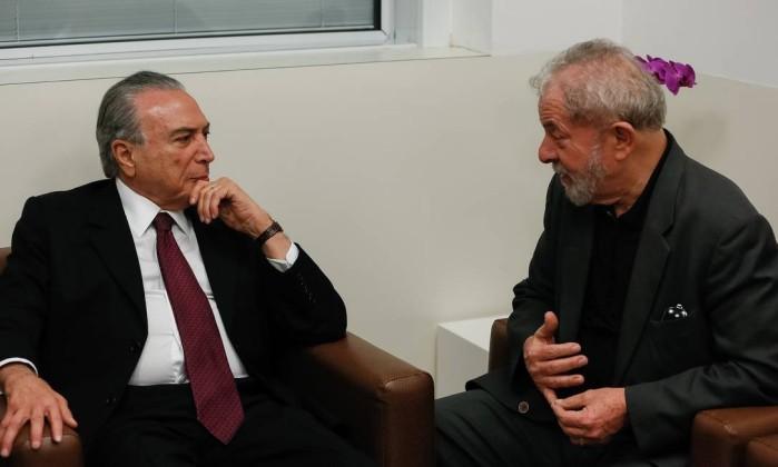 Resultado de imagem para ex-presidente lula e temer