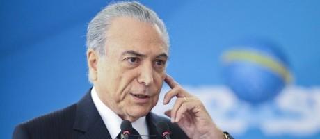 O presidente Michel Temer, durante a posse de três novos ministros Foto: Jorge William/Agência O Globo/03-02-2017