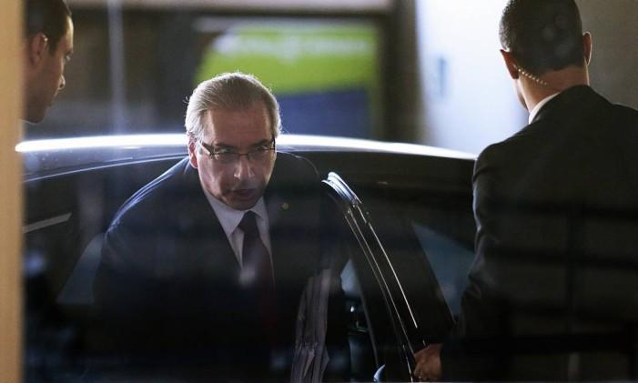 O ex-deputado Eduardo Cunha, hoje preso na Lava-Jato Foto: Jorge William / Agência O Globo / 2-2-2016
