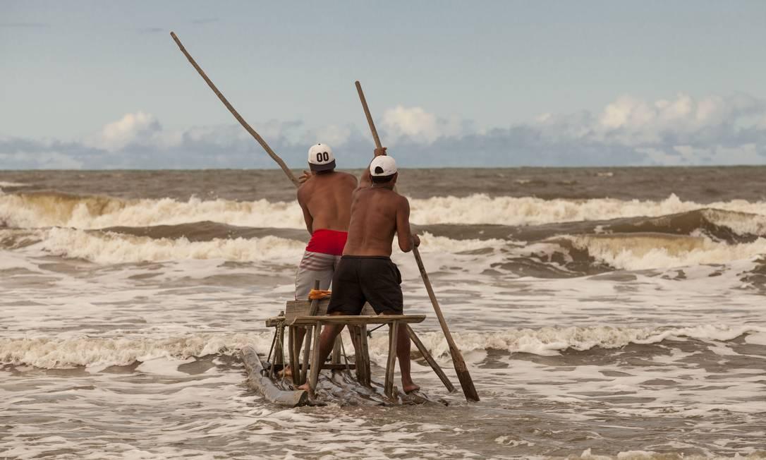 Jangada tradicional de Canavieiras, na Bahia Rafael Duarte/Miramundos / Rafael Duarte/Miramundos