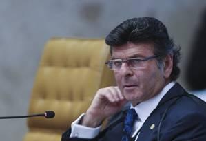 O ministro Luiz Fux realiza audiência de conciliação Foto: André Coelho / Agência O Globo