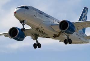 Jato comercial C100 C-Series, da canadense Bombardier. Foto: Jean-Charles Hubert