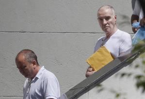 Eike Batista deixa a Polícia Federal Foto: ANTONIO SCORZA / Agência O Globo