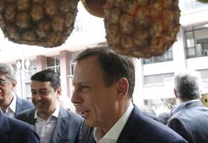 Prefeito João Doria anunciou hoje outra parceria com a iniciativa privada Foto: Edilson Dantas/ Agência O Globo