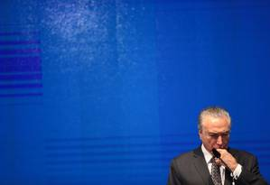 O presidente Michel Temer Foto: Jorge William / Agência O Globo