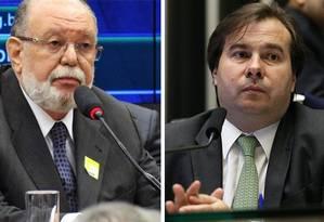 O ex-presidente da OAS Leo Pinheiro e o presidente da Câmara, Rodrigo Maia Foto: Arquivo O GLOBO