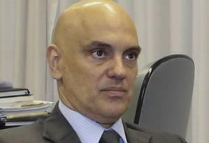 Alexandre Moraes visita o senador Edison Lobão no Senado Federal. Foto: Ailton de Freitas / Agência O Globo