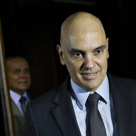 Alexandre Moraes no Senado, para reuniões com diversos senadores Foto: Marcelo Camargo/Agência Brasil