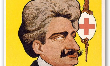 """Caricatura. Na revista humorística 'Careta', Oswaldo Cruz é chamado de """"general da Brigada Mata Mosquitos"""" Foto: 1908 / Acervo Fundação Oswaldo Cruz"""