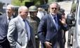 O ministro de Defesa, Raul Jungmann, chega a Vila Velha para ver como está a operação Capixaba