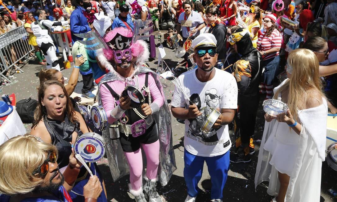 O desfile do bloco Desliga da Justica neste sábado na Gávea Foto: Antonio Scorza / Agência O Globo