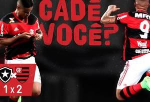Flamengo provoca Botafogo após clássico no Engenhão Foto: Reprodução twitter